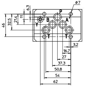 Монтажная поверхность распределителей DKE, DKER